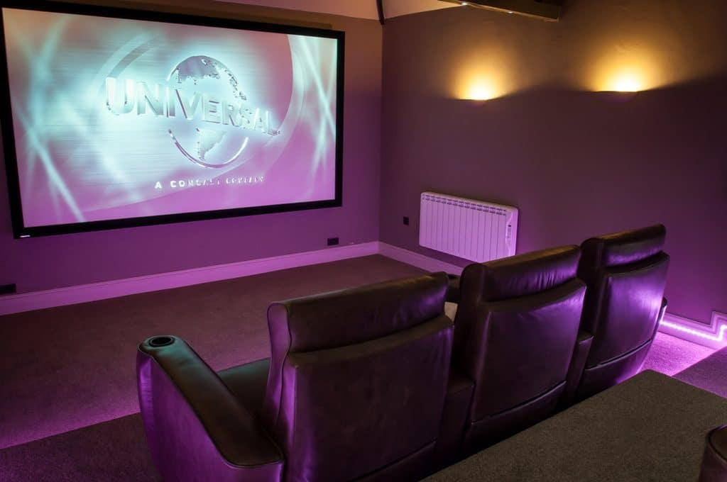 dedicated home cinema room